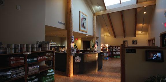 reception area - dog side